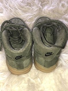 f793b3d3c1 Nike Toddler Air Force 1 Sneakers - Size 8c US Olive Green With Tan Bottom  #fashion #clothing #shoes #accessories #kidsclothingshoesaccs #unisexshoes  (ebay ...
