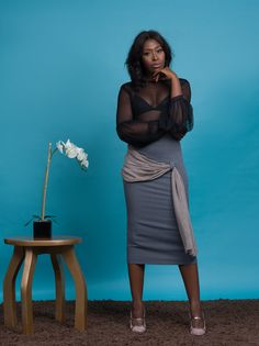 THE KENYAN PAIR #Pencilskirt #WanaSamboWoman #sheer