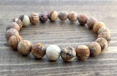 Picture Jasper Bracelet by NidraBeads on Etsy Spiritual Jewelry, Bling Bling, Jasper, Jewelry Making, Beaded Bracelets, Beads, Pictures, Etsy, Accessories