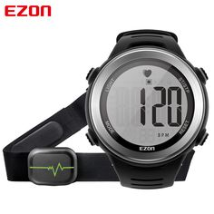 Good price New Arrival EZON T007 Heart Rate Monitor Digital Watch Alarm Stopwatch Men Women Outdoor Running Sports Watches with Chest Strap just only $29.99 with free shipping worldwide  #menwatches Plese click on picture to see our special price for you