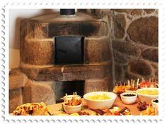 O forno de pedra da cozinha, em segundo plano E Design, Waffles, Breakfast, Food, Rocket Stoves, Stuff Stuff, Ideas, Country, Architecture