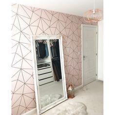 I Love Wallpaper Zara Shimmer Metallic Wallpaper Soft Pink Rose Gold - Wallpaper Pink Bedroom Decor, Pink Bedrooms, Pink Wallpaper Bedroom, Bedroom Ideas, Wall Paper Bedroom, Shabby Bedroom, Bedroom Girls, Bedroom Designs, Metallic Wallpaper