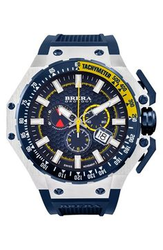 128e719803a Brera  Gran Turismo  Chronograph Silicone Strap Watch