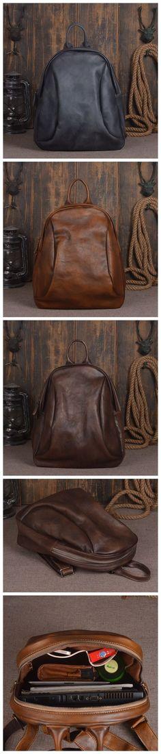 0c0410700d Handmade Full Grain Leather Backpack Womens