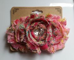 Check out this item in my Etsy shop https://www.etsy.com/listing/235513074/shabby-flower-hair-clip