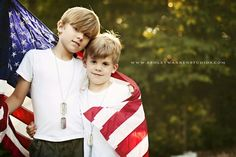 red white and blue family photography