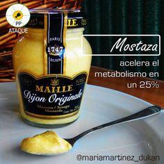 Condimentos permitidos para la dieta Dukan desde Ataque: Mostaza tipo Dijón sin azúcar añadido