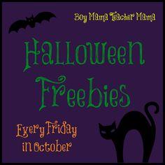 Boy Mama Teacher Mama   Halloween Freebies: Every Friday in October