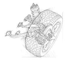 Automotive illustration. Cutaway, ghosted, phantom view illustrations for Honda/Acura.