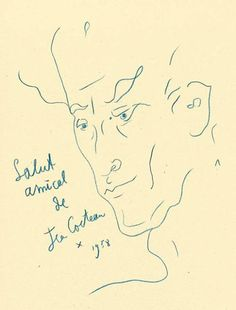 Jean Cocteau,1958
