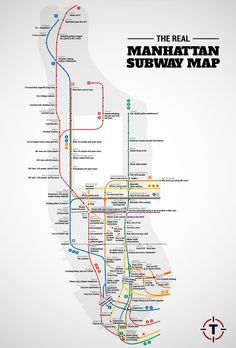 Manhattan subway stops by association