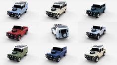 Land Rover Defender Pack 3D Model .max .c4d .obj .3ds .fbx .lwo .stl @3DExport.com by dragosburian