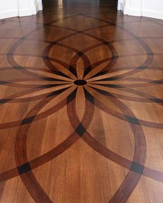 Wood Floor Faux Inlay Stencil, Wood Stenciling Greek Revival House