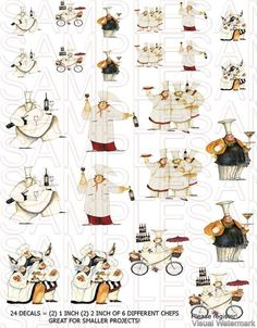 En Chef Print Fat Chefs Prints Ens Art Roosters Coop Whimsical