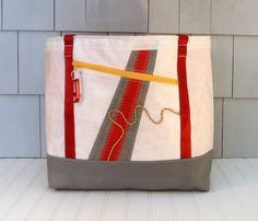 Recycled Sails Nautical Gift Nautical Bag Beach by HoistAwayBags, $195.00