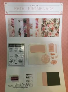 The Petal Promenade Suite, from Stampin' Up! avaliable from the 1st June 2018. In the meantime check out the still current Occasions Catalogue and the Last Chance Products. Click here for link to online shop 24/7, from anywhere in Australia.