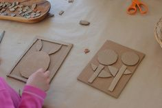 Collagraph printmaking with kids using cardboard. - Printmaking with Kids using Cardboard