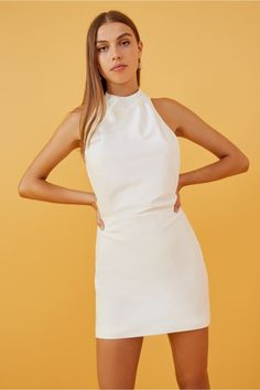 Shop the latest in women's dresses by all your favourite Australian brands online now at BNKR. With new styles dropping every week and express shipping on every order, you can get dressed up in no time! Dress Outfits, Fashion Dresses, Dresses For Work, Summer Dresses, White Mini Dress, Get Dressed, Dress Collection, Dresses Online, Short Sleeve Dresses