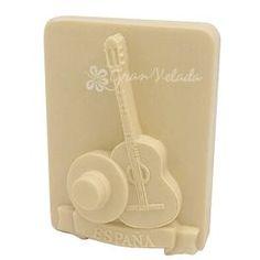Molde para hacer jabones, España Folklórica. Molde de silicona, ideal para hacer pastillas de jabón con guitarra y sombrero. Lo puedes hacer con jabón de glicerina, jabón de aceite, tus jabones caseros hechos souvenirs. DIY