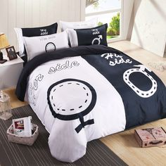Find More Bedding Sets Information about Lover herside bedding set for double bed polyester cotton bedclothes boy and girl print duvet cover sets, fast shipping,High Quality bedding sets boys,China bedding sheet set Suppliers, Cheap bedding sets modern from Lena Small Wholesale Shop on Aliexpress.com