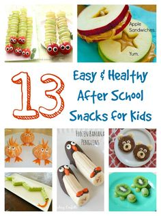 Easy & Healthy After School Snacks for Kids