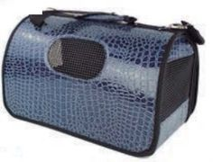 Nuevos #bolsos de transporte para #perro grande y pequeño. Con estampado que simula la piel de serpiente. Elige entre el model azul o negro en www.dogsaffaire.com