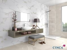 Luxury Stone Calacatta Oro Ambient. For more information, visit www.x-tile.net