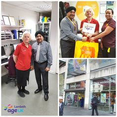 A big thank you to Brixton Tube Sainsbury's for their food donation to Age UK Lambeth and for actively contributing to the local community. All the food will be used at Vida Walsh Centre which provides meals and activities for older people in Lambeth. Kim Connell, Services Manager of Age UK Lambeth, with Mr. Arvinder Singh, Brixton Tube Sainsbury's store manager. ‪#‎AgeUKLambeth‬ ‪#‎AgeUK‬ ‪#‎lovelaterlife‬ ‪#‎charity‬ ‪#‎goodcause‬ ‪#‎empowering‬ ‪#‎donations‬ ‪#‎food‬ ‪#‎Sainsburys‬