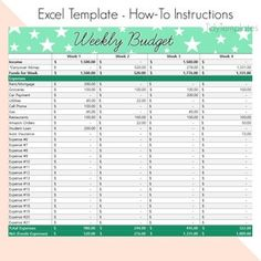 Weekly Budget Template for Two Incomes Weekly Expense Log | Etsy Weekly Budget Template, Simple Budget Template, Weekly Budget Planner, Budget Binder, Monthly Budget, Budget Worksheets Excel, Budgeting Worksheets, Personal Financial Planner, Personal Finance