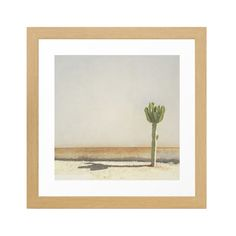 Bring the vast deserts of the American Southwest home with this breathtaking art print featuring a tall, lonesome cactus set against a sunny, open desert landscape. It's printed on archival cotton pape...  Find the Lone Cactus Art Print, as seen in the Danish Modern Meets Desert Calm Collection at http://dotandbo.com/collections/danish-modern-meets-desert-calm?utm_source=pinterest&utm_medium=organic&db_sku=SO60390
