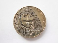 Hobo Buffalo Nickel Folk Art Coin Love Token Arab Woman Queen of Sheeba   eBay