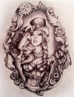 Trendy Ideas Tattoo Sleeve Designs Drawings Alice In Wonderland Tattoo Sleeve Designs, Sleeve Tattoos, Tattoo Sketches, Tattoo Drawings, Tatouage Goth, Alice In Wonderland Drawings, Alice In Wonderland Tattoo Sleeve, Mirror Tattoos, Gear Tattoo