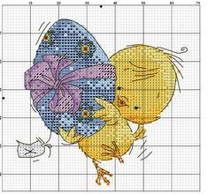 kücken z niebieską pisanką 2/2 Cross Stitch Kitchen, Cross Stitch For Kids, Mini Cross Stitch, Cross Stitch Cards, Cross Stitch Flowers, Counted Cross Stitch Patterns, Cross Stitch Designs, Cross Stitching, Cross Stitch Embroidery