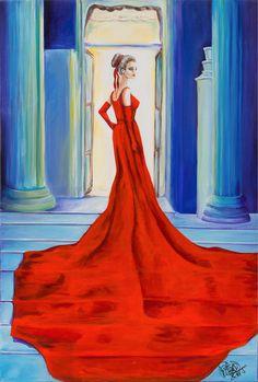 La boda | The wedding | Acrílico sobre lienzo | Acrylic on canvas by Pili Tejedo 60 x 90 cm