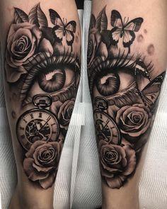 B & G Tattoo Artwork artist IG: – Tatuajes – … : Tatuajes Antebrazo Forarm Tattoos, Forearm Sleeve Tattoos, Dope Tattoos, Badass Tattoos, Body Art Tattoos, Clock Tattoos, Portrait Tattoo Sleeve, Tatoos, Inner Forearm Tattoo