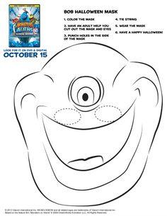 Monsters vs. Aliens Bob Mask Printable Craft