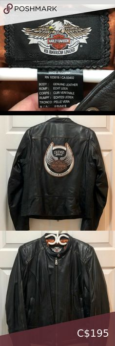 I just added this listing on Poshmark: Harley Davidson Anniversary Leather Jacket. Motorcycle Jacket, Harley Davidson, Blazers, Jackets For Women, Anniversary, Leather Jacket, Coat, Sleeves, Shopping