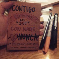 ***Contigo... #señoritaClementinadelAmor  #love #quotes #lettering