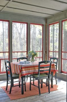 Use screen doors when building porch