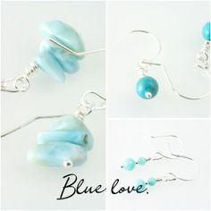 Spring might be coming. Teal, Turquoise, Handcrafted Jewelry, Jewelry Making, Drop Earrings, Spring, Handmade Chain Jewelry, Handmade Jewelry, Jewellery Making