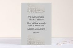 Delicate Dots Foil-Pressed Wedding Invitations by Ashley Hegarty at minted.com