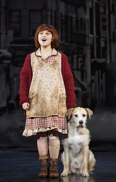 "Issie Swickle and Sunny star as Annie and Sandy in Broadway in Chicago's ""Annie the Musical"" by Charles Strouse, Martin Charnin and Thomas Meehan. (photo credit: Joan Marcus). Recommended!"