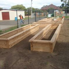 raised planter boxes; this is what my front yard will look like soon