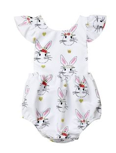 Hot Sale Uk Cute Newborn Baby Girls Clothes Easter Bunny Romper Bodysuit Jumpsuit Outfits A Wide Selection Of Colours And Designs Baby & Toddler Clothing Clothing, Shoes & Accessories