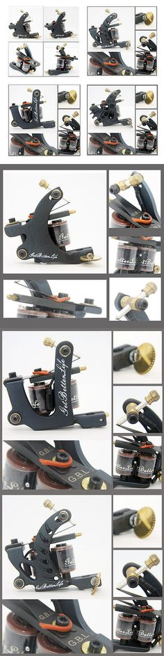 Tattoo Machines and Parts: Pro 4Pcs Iron Tattoo Machines Guns 8 10 Wrap Coils Supply For Shader Liner Kits BUY IT NOW ONLY: $45.99