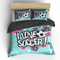 I Heart Zebra Soccer Bedding Set, Duvet or Comforter – TheDezineShop