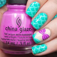 "Nail Art Inspired by Disney's ""The Little Mermaid"""
