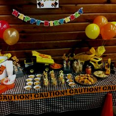 """Party time Little boys birthday idea, Pooks loves """"diggers"""""""