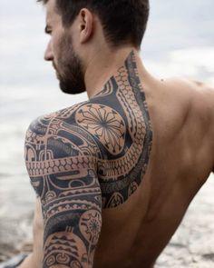 101 Amazing Samoan Tattoo Designs You Need To See! Tattoo Tribal, Polynesian Tribal Tattoos, Tribal Tattoos For Men, Geometric Tattoo Arm, Samoan Tattoo, Maori Tattoos, Buddha Tattoos, Men With Tattoos, Polynesian Tattoo Sleeve
