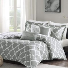 This Alta Reversible Duvet Cover provides a classic look to your bedroom. This Alta Reversible Duvet Cover is completely reversible, allowing you to change the feel of your room instantly. Bedding Sets Online, King Bedding Sets, Comforter Sets, Gray Comforter, Luxury Duvet Covers, Luxury Bedding Sets, Modern Bedding, Hotel Collection Bedding, Cheap Bed Sheets